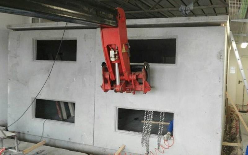 Installazione cabine a pannelli
