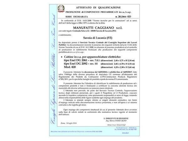 Qualificazione Cabine DG 2092-DG 2061 - Mod.420