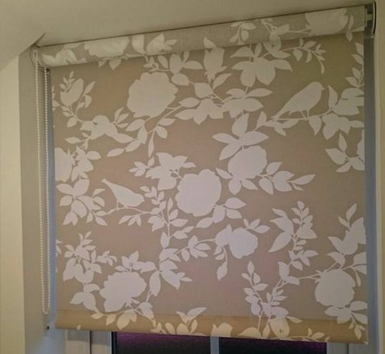 floral printed blinds