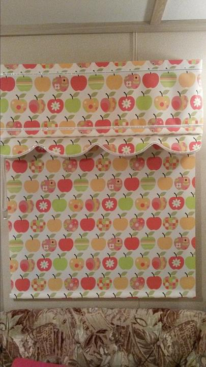 apple printed blinds