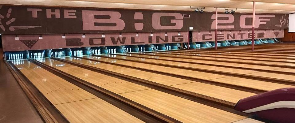 Bowling alley lanes and seating