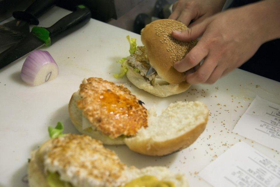 Preparazione Fish Burger