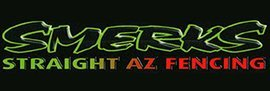 smerks straight az fencing business logo