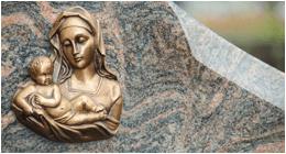 decori in bronzo per tombe