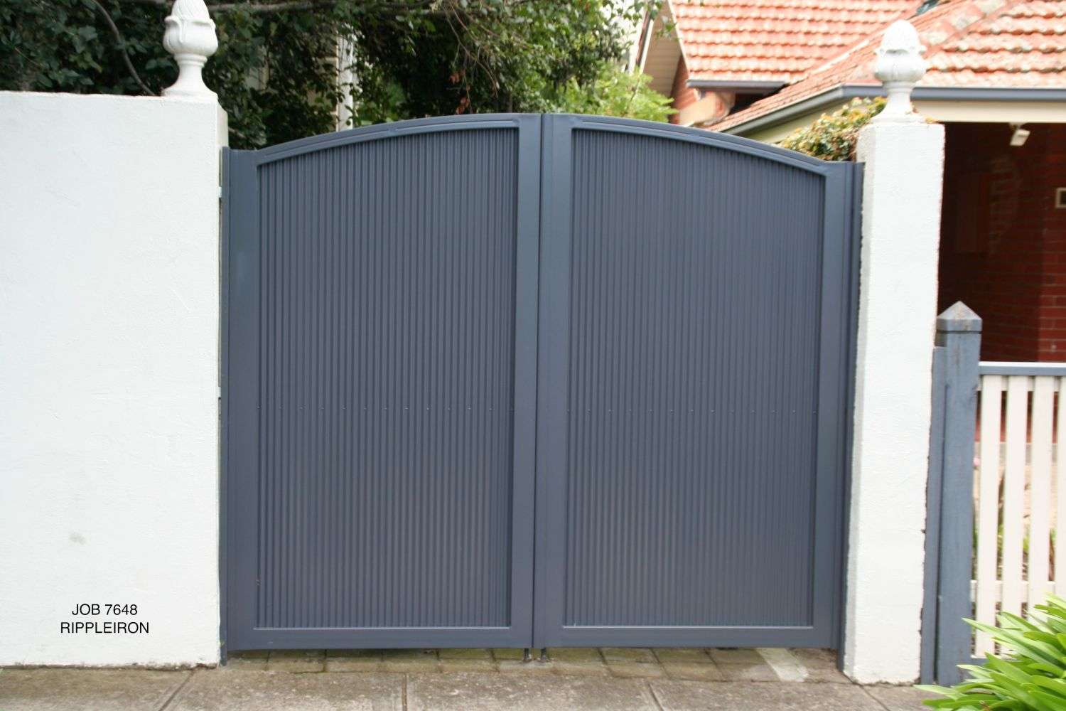 solid dark fence