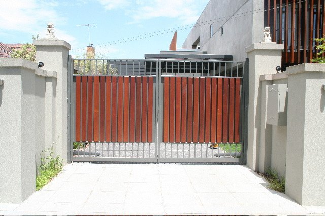 metal and timber gate