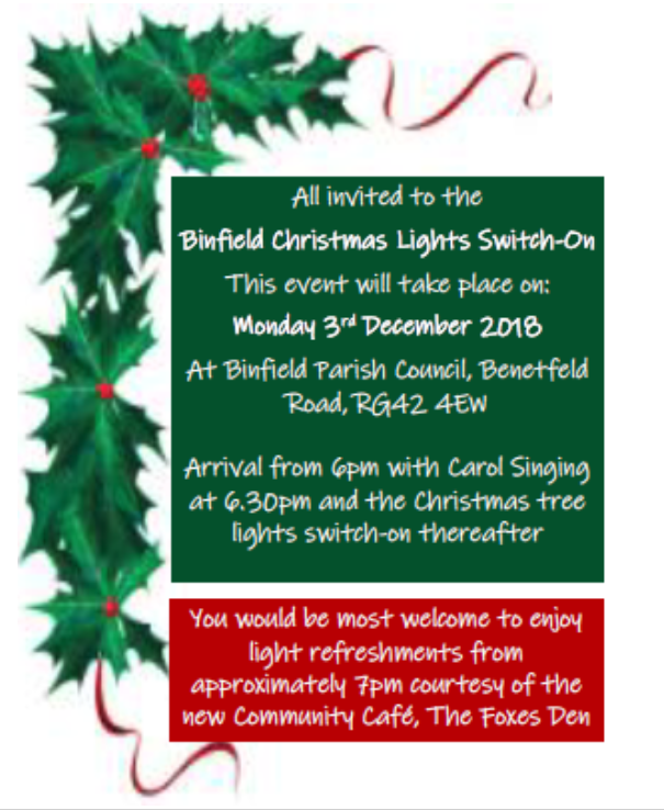 Join Us For The Annual Christmas Lights Switch On Official Opening Of Parish Council Office