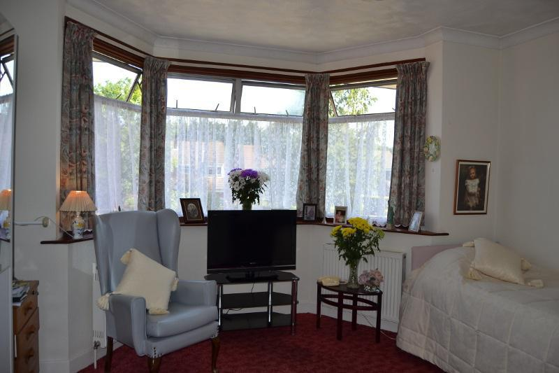 Resident room in Avon Park Care Home  with large windows