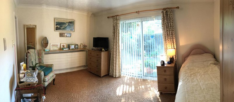 Resident room in Avon Park Care Home with outdoor view