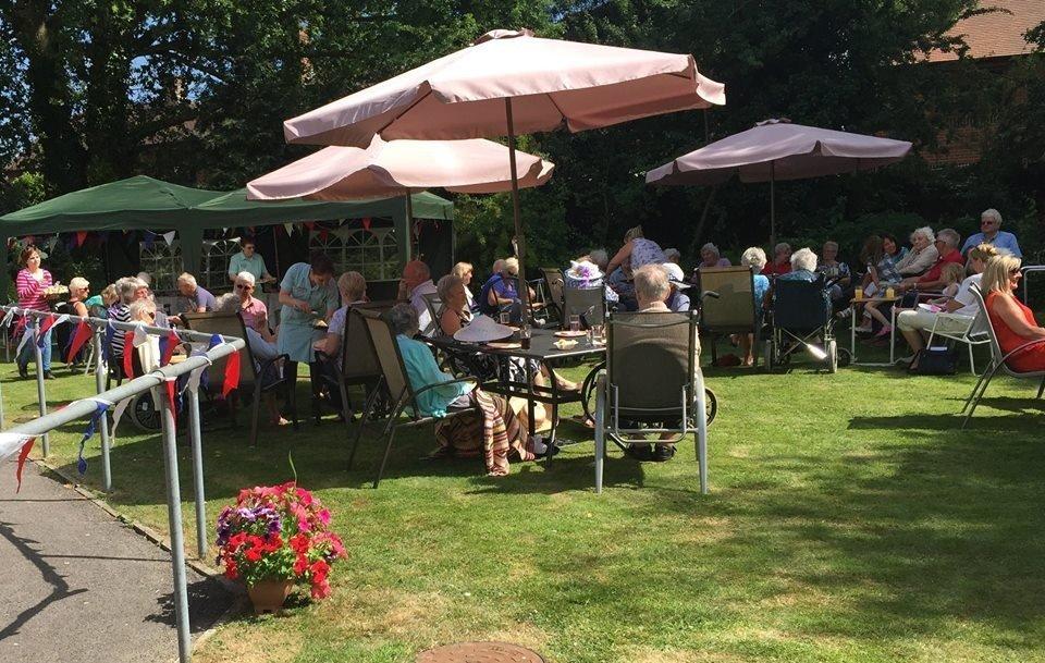 Avon Park Care Home - garden party