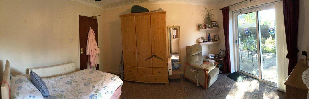 Resident room in Avon Park Care Home