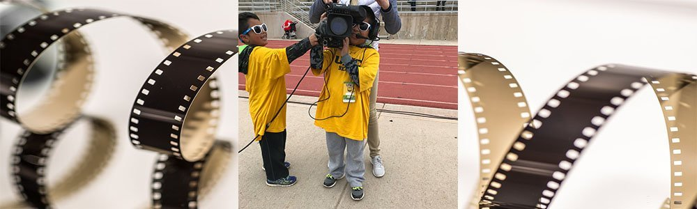 Students filming for game