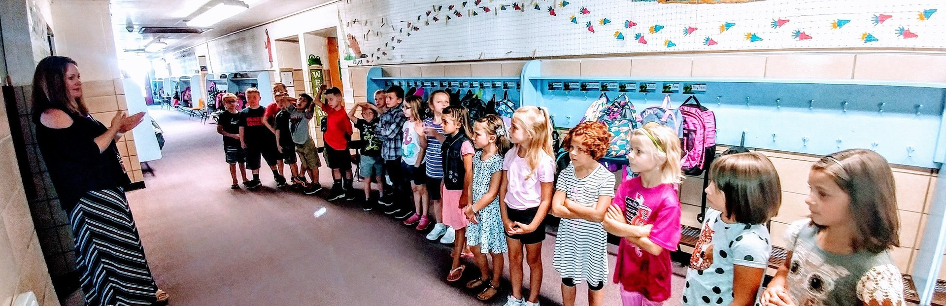 First grade students learn the rules