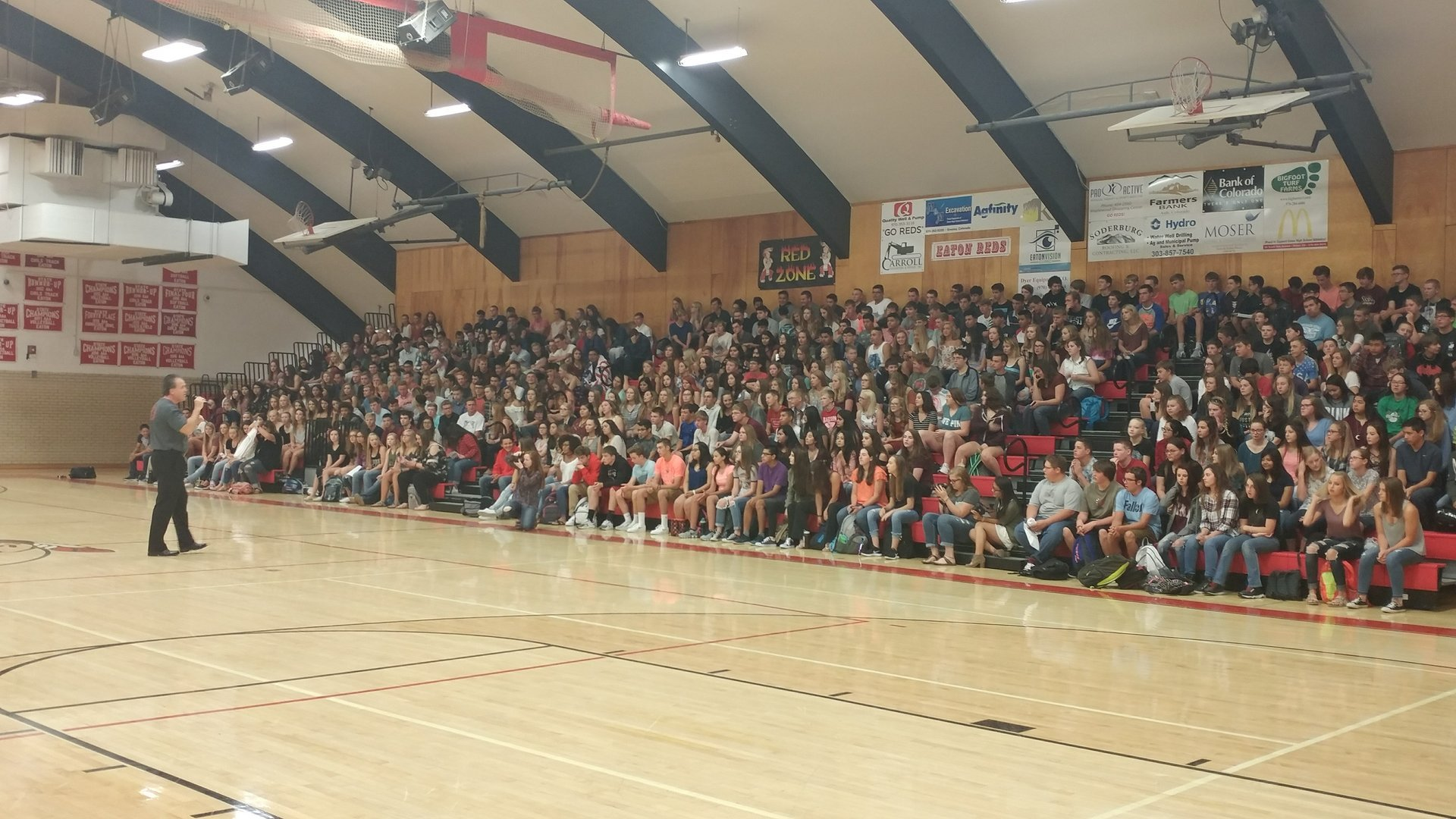 EHS student body listens to Principal Jay Tapia