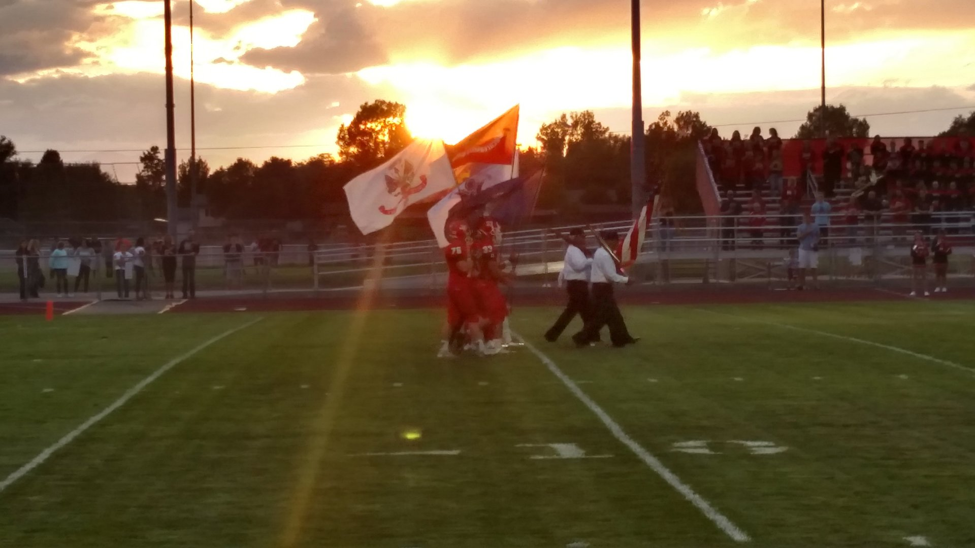 Friday Night lights and flags