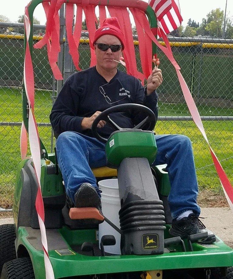 Scott on mower