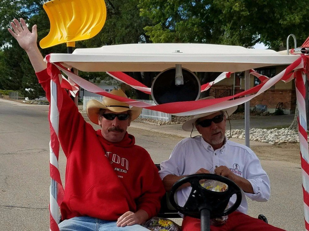 Tommy and Jim on Golf Cart