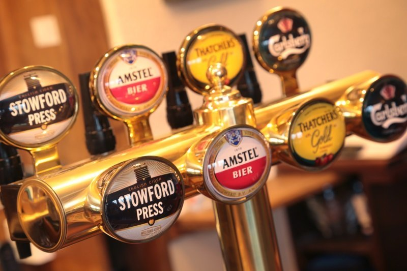 Our selection of fine ales at the George Inn, Sandy Lane, Chippenham.