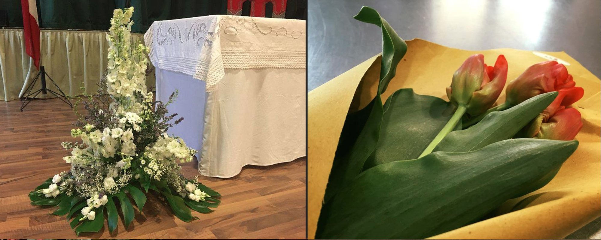 Decorazioni floreali per cerimone