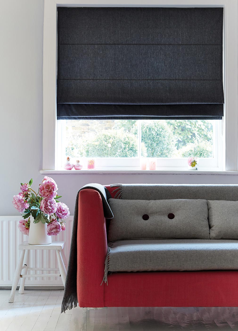 CHAMBRAY CHARCOAL BLINDS