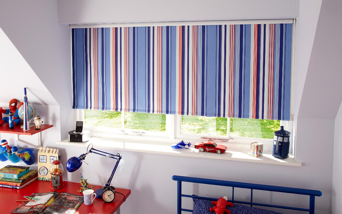 KASURI BLUE BLACKOUT BLINDS