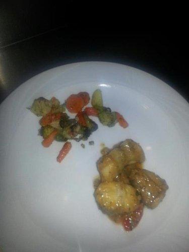 piatto di carne e verdure