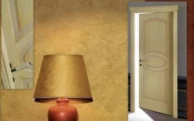 Porta da interno in legno listellare