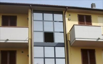 Struttura vetrata a facciata continua