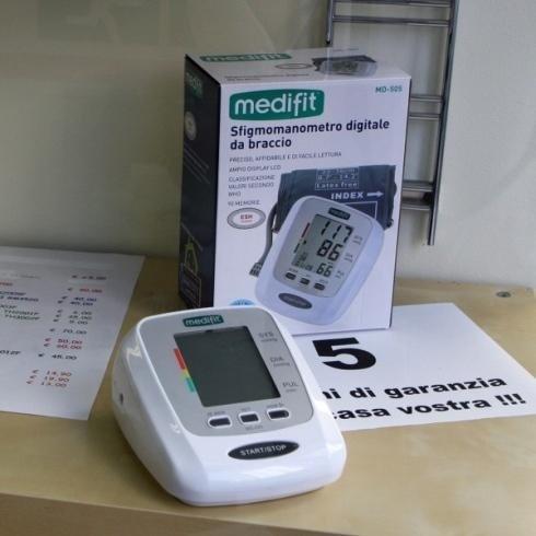 Presso il negozio di Genova sono in vendita i misuratori della pressione
