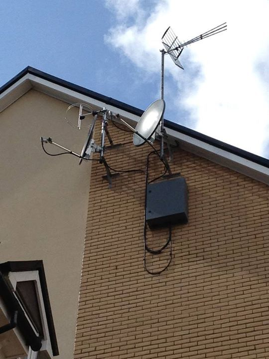 Aerial installed on a home