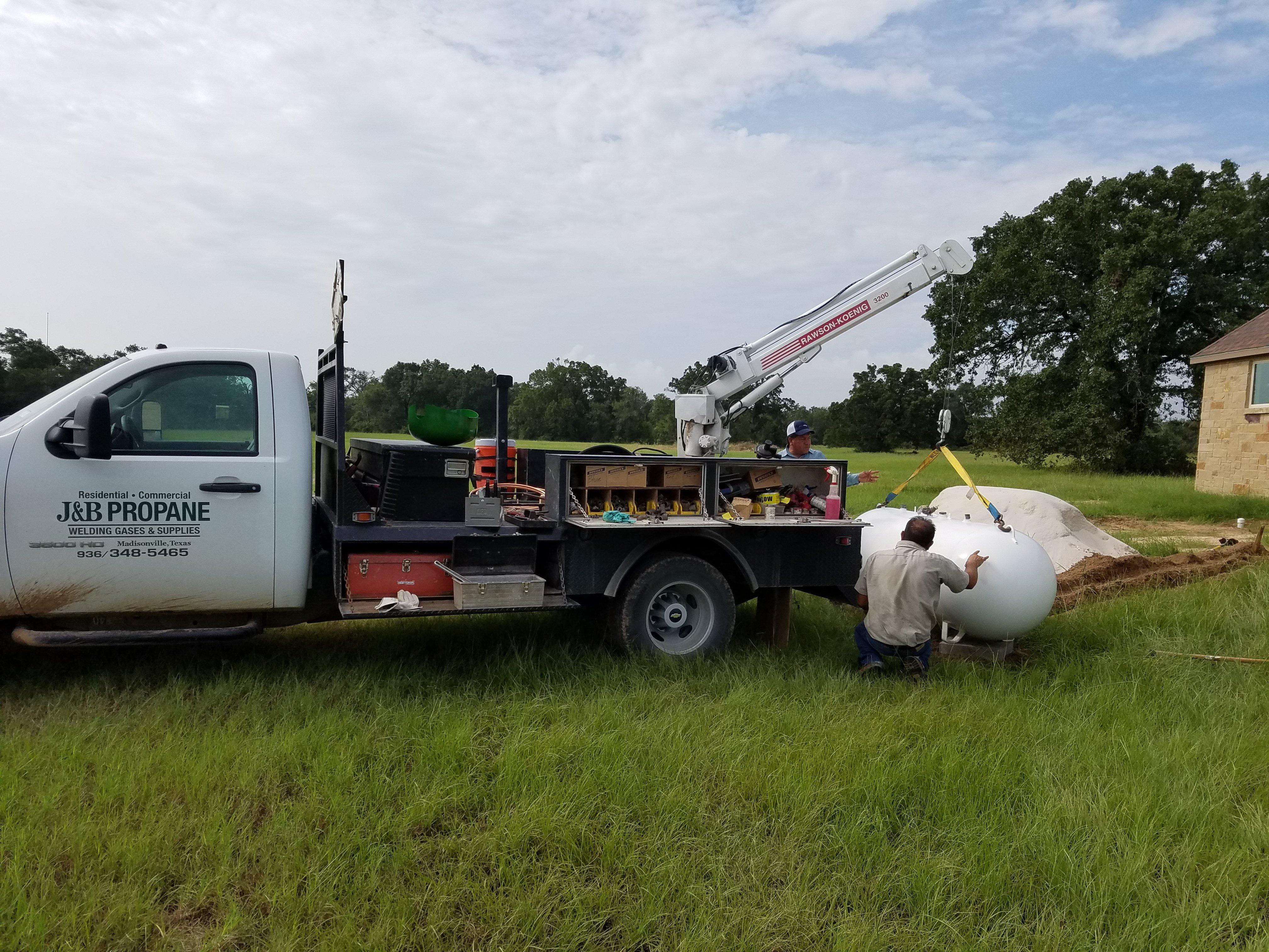 Tank Installation in Madisonville TX - J & B Propane