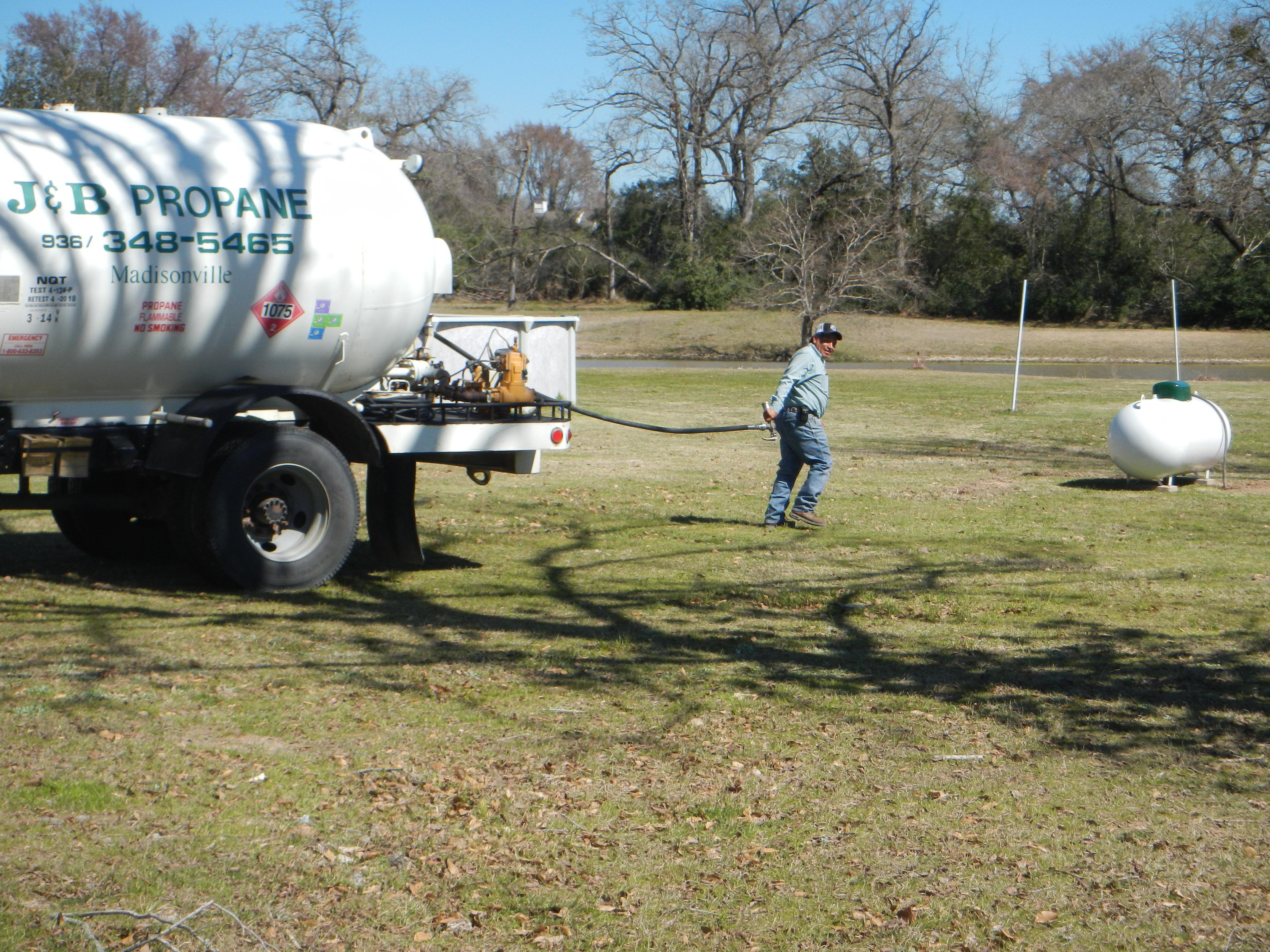 Tank Installation in College Station TX - J & B Propane