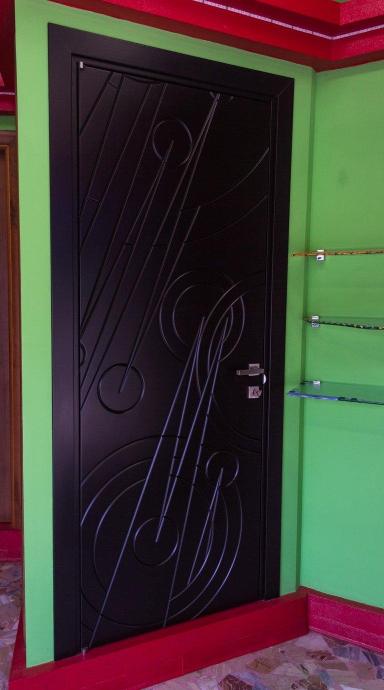 porta legno intarsiata