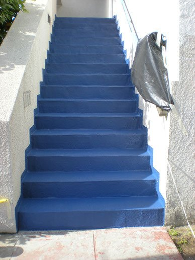 Stairs after refinishing with ProDeck waterproofing product