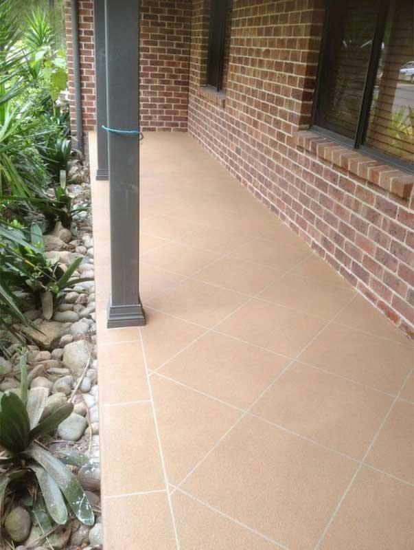 tile spray on flooring