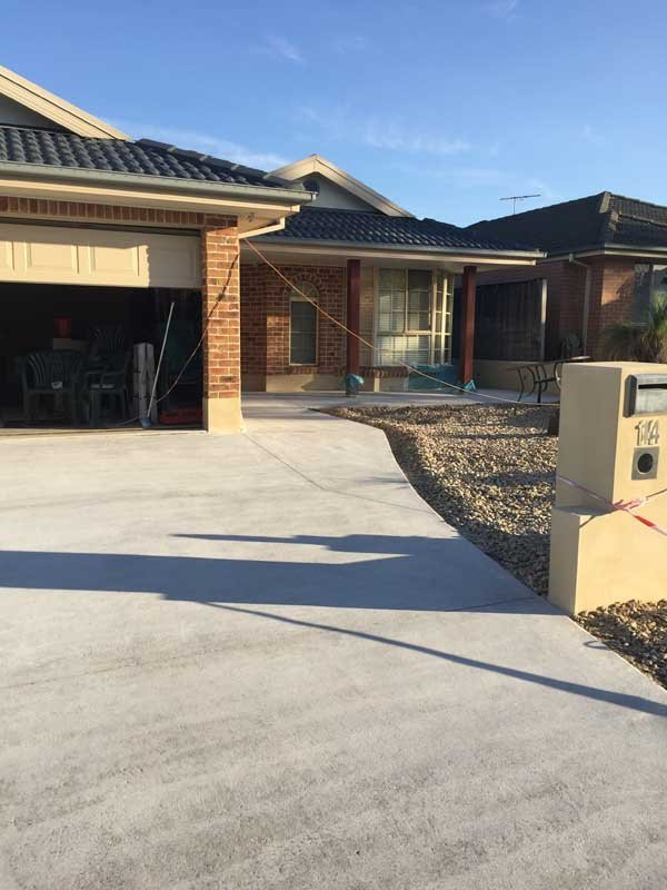 nice house with new concrete driveway