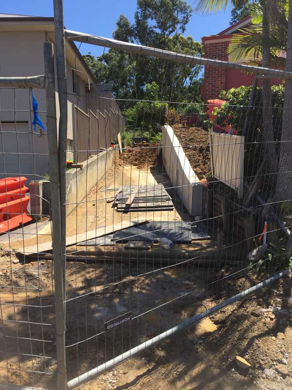 backyard paving project