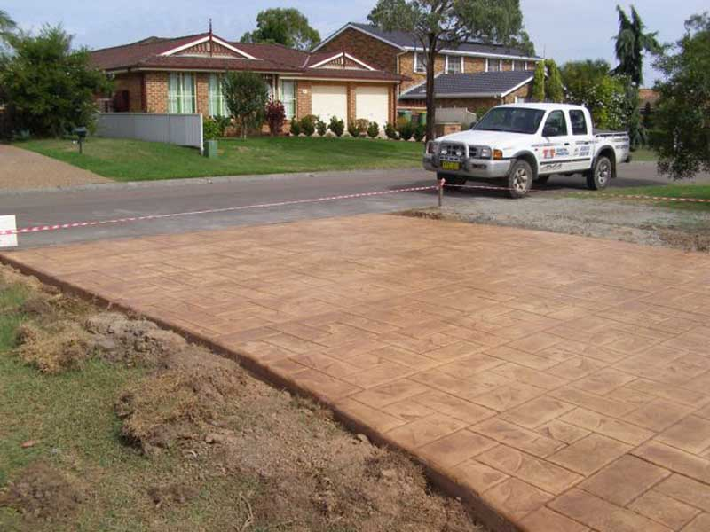 stamp finished driveway