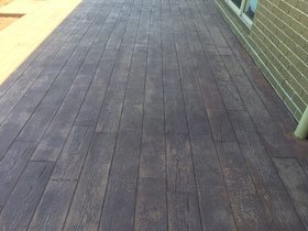 new wood patio