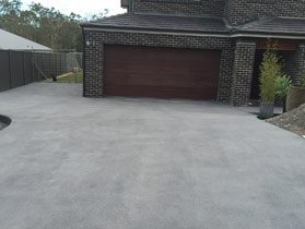 driveway with new concrete