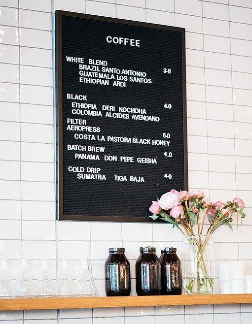 two birds one stone coffee menu