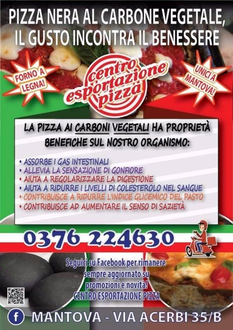 pizza nera benefici