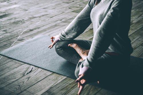 Individual doing mediation