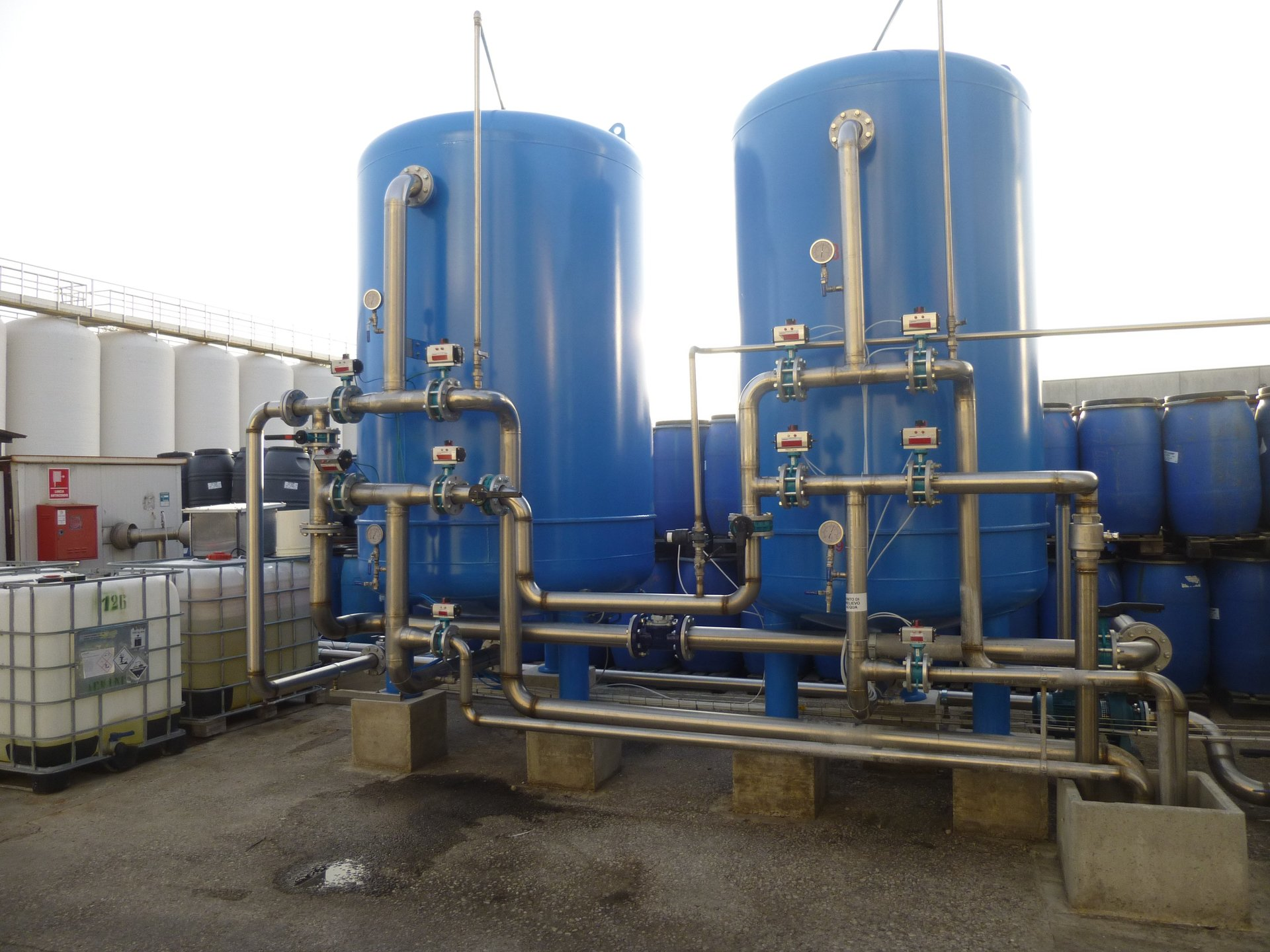 Addolcitori acque per l'industria