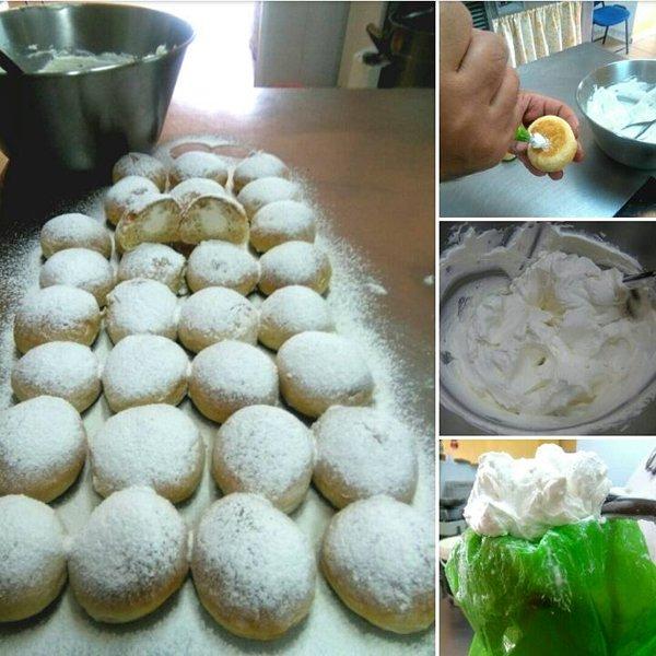 preparazione bigne alla crema