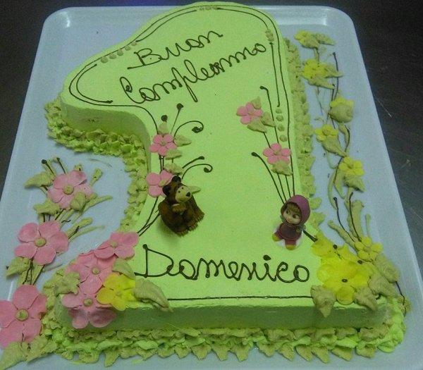 torta di buon compleanno 1 anno per Domenico