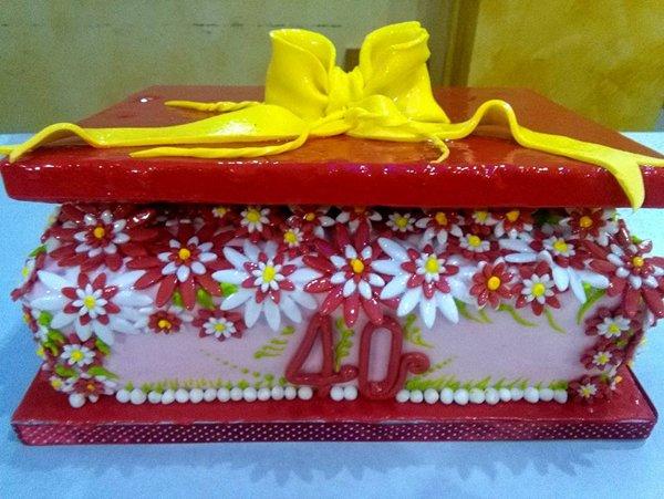 torta di compleanno per i 40 anni