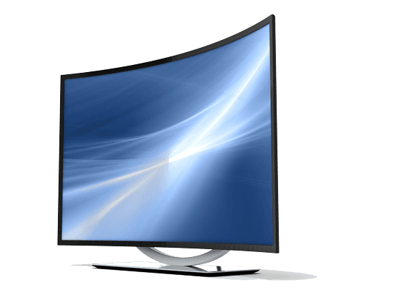 curved tv icon