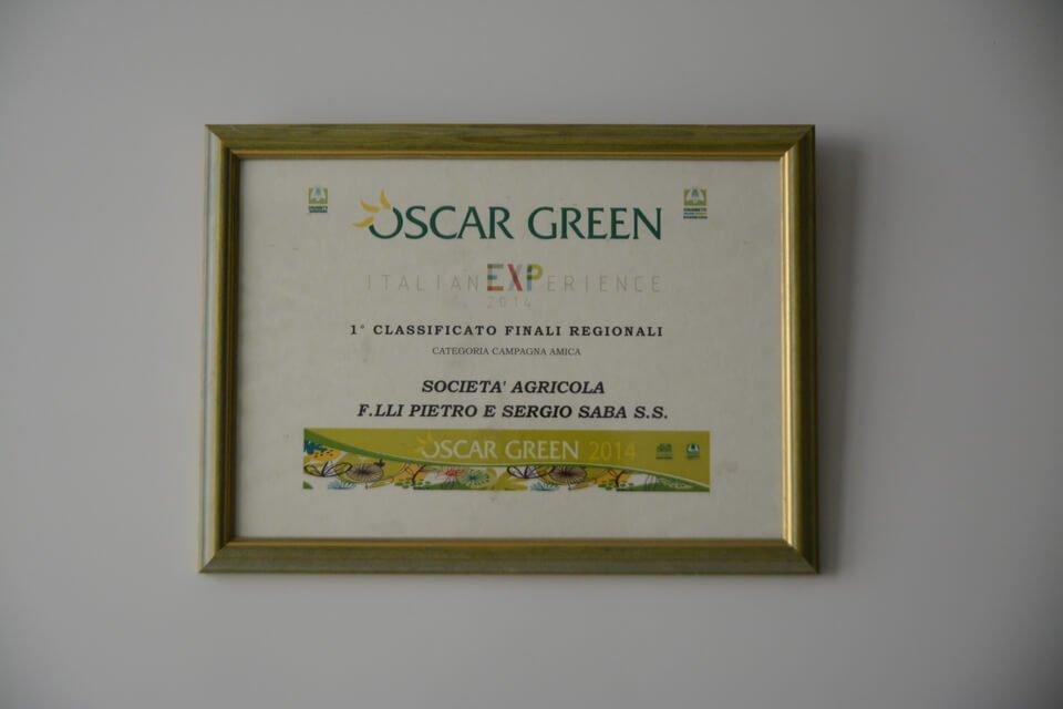 targa del premio oscar green