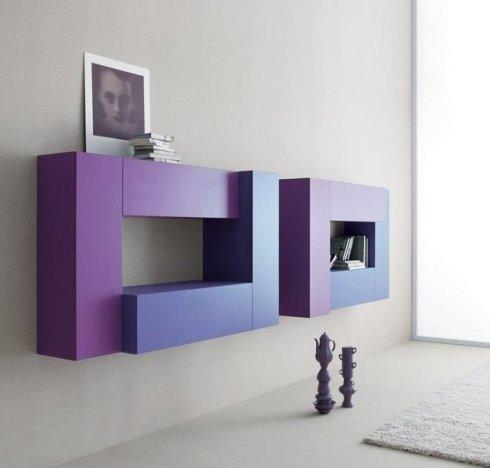 mobili colorati, arredamenti, cucine